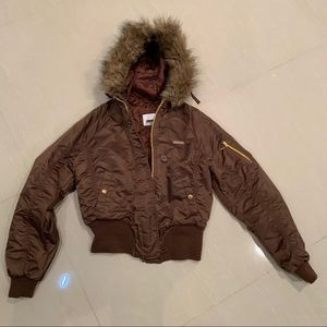 COPY - SouthPole Bomber Jacket fur hood Brown SzM